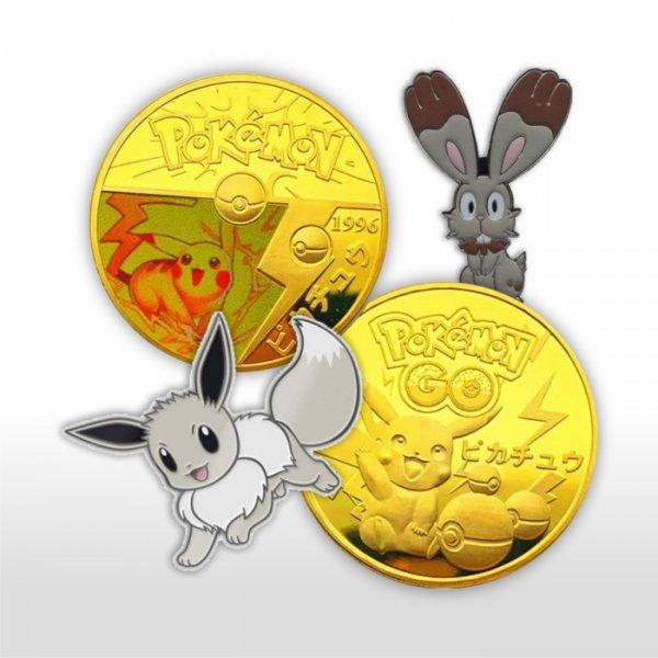 Pokemon Pins & Münzen