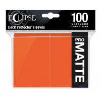 Ultra Pro Eclipse Sleeves - Orange Matt (100 Kartenhüllen)
