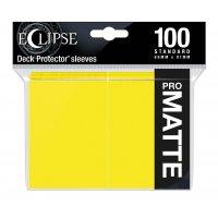Ultra Pro Eclipse Sleeves - Gelb Matt (100 Kartenhüllen)