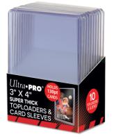 Ultra Pro Standard Toploader 3x4 Zoll (extrem dicke Schutzhüllen 130pt) + 10 Sleeves