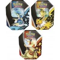 Alle 3 Pokemon Herbst Tins 2021: Flamara-V, Aquana-V und Blitza-V VORVERKAUF