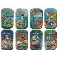 Celebrations: Alle 8 Mini Tins - jede Generation von Starter-Pokémon (deutsch)