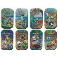 Celebrations: Alle 8 Mini Tins - jede Generation von Starter-Pokémon (englisch)