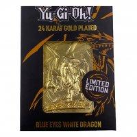 Yu-Gi-Oh! 24 Karat Gold plattiert Metallplatte Blue Eyes White Dragon *LIMITIERTE EDITION*
