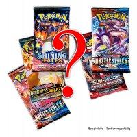 5 gemischte englische Pokemon Boosterpacks