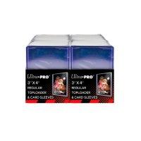 """Ultra Pro Regular Toploader 3"""" x 4"""" 35PT (200 dicke Schutzhüllen) & 200 Card Sleeves"""