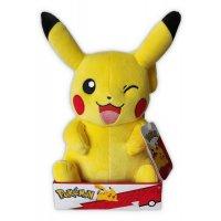Pikachu (zwinkert) Plüschfigur 30 cm - Pokemon Kuscheltier von Wicked Cool Toys