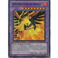 Flammenphönix, der brennende Bombenvogel