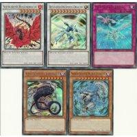 01 Alle 5 Promo Ultra Rares der Legendary Collection 5Ds (LC05-DE001 bis LC05-DE005)
