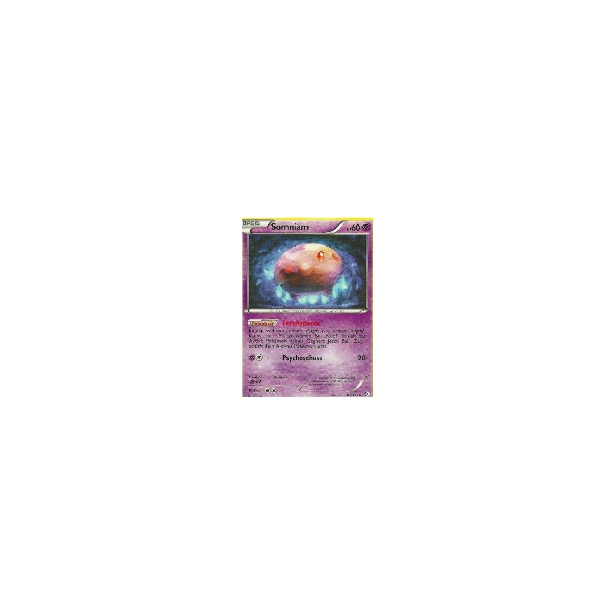 Somniam Deutsch Pokemon Schwarz/&Weiss Überschrittene Schwellen 68//149