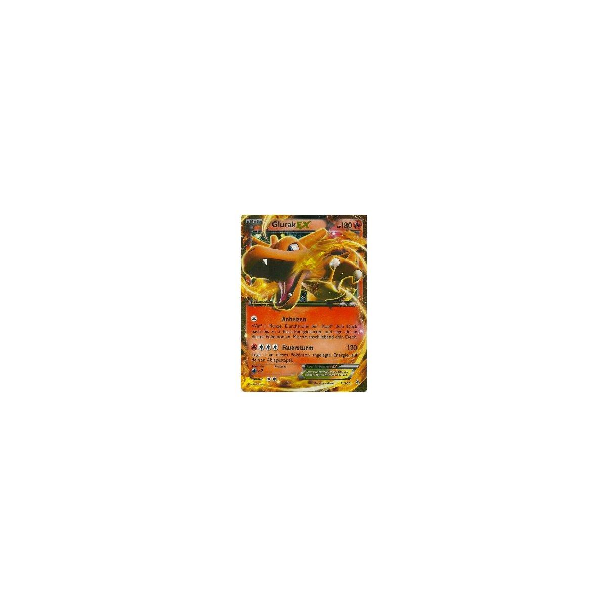 Pokemon Deutsch Rare Holo EX Glurak EX 11//106 Mint Flammenmeer 2014