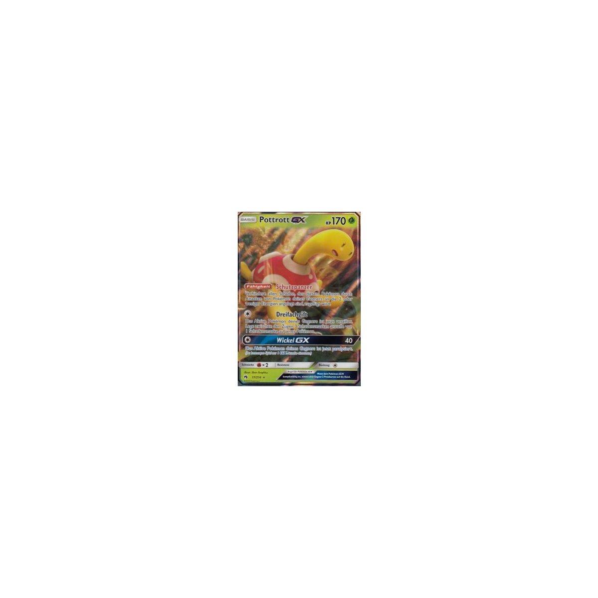 Pokemon Karte Pottrott GX 17//214 HoloDeutsch