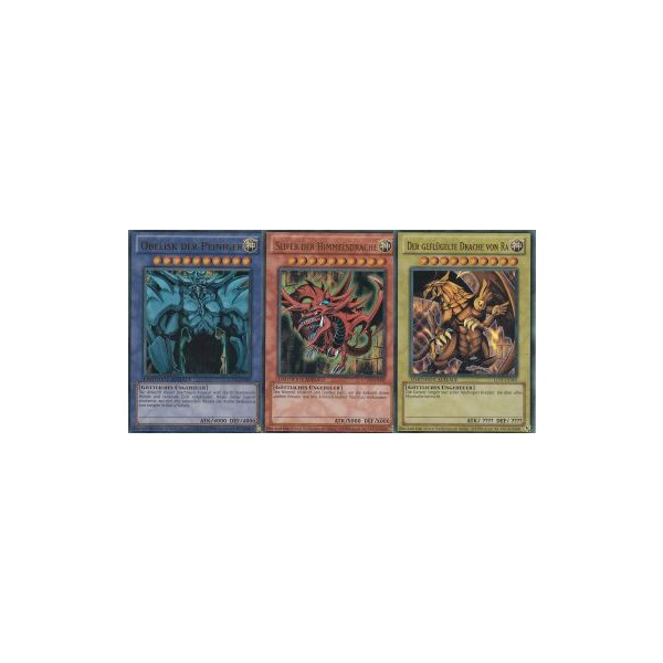 Legendary Collection 1 - Ägyptische Götterkarten Set: Ra, Obelisk und Slifer