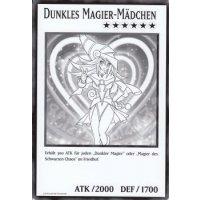 Dunkles Magier Mädchen (XXL Jumbo-Karte)