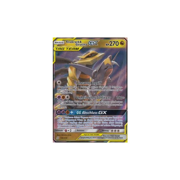 Knakrack /& Giratina GX 228//236 Pokemon Bund der Gleichgesinnten