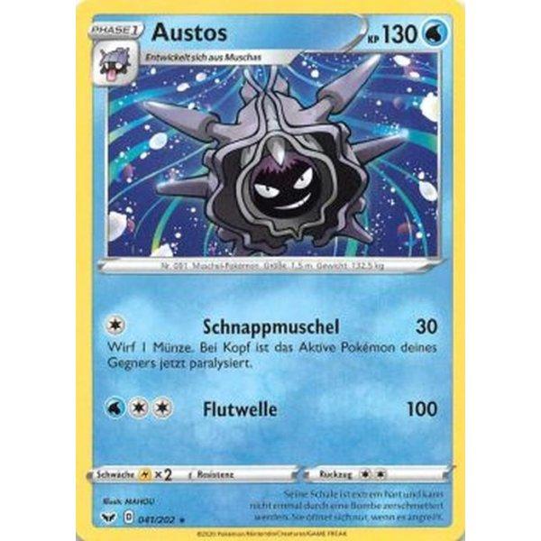 Pokemon Schwert /& Schild Austos 041//202 Reverse Holo Boosterfrisch