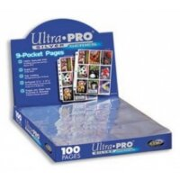 10 Seiten Ultra Pro 9-Pocket Pages Silver