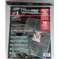 10 Seiten Ultra Pro 9-Pocket Pages (Clear) Refill Pack