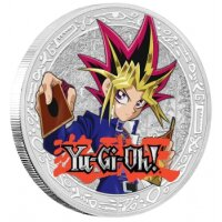 Yu-Gi-Oh! - Yami Yugi - 1 oz Silbermünze - limitierte Auflage - Polierte Platte *ABSOLUTE SELTENHEIT*