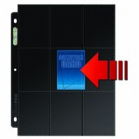 10 Seiten Ultra Pro 18-Pocket Pages Side Load Black