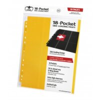 Ultimate Guard 18-Pocket Pages Side-Loading Gelb (10)
