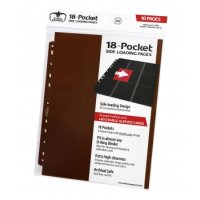 Ultimate Guard 18-Pocket Pages Side-Loading Braun (10)
