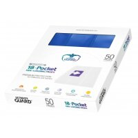 Ultimate Guard 18-Pocket Pages Side-Loading Box Blau (50)