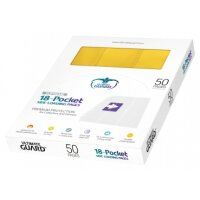 Ultimate Guard 18-Pocket Pages Side-Loading Box Gelb (50)