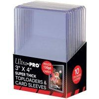 Ultra Pro Super Thick Toploader 3x4 Zoll 130PT (extrem dicke Schutzhüllen) - 10 Stück