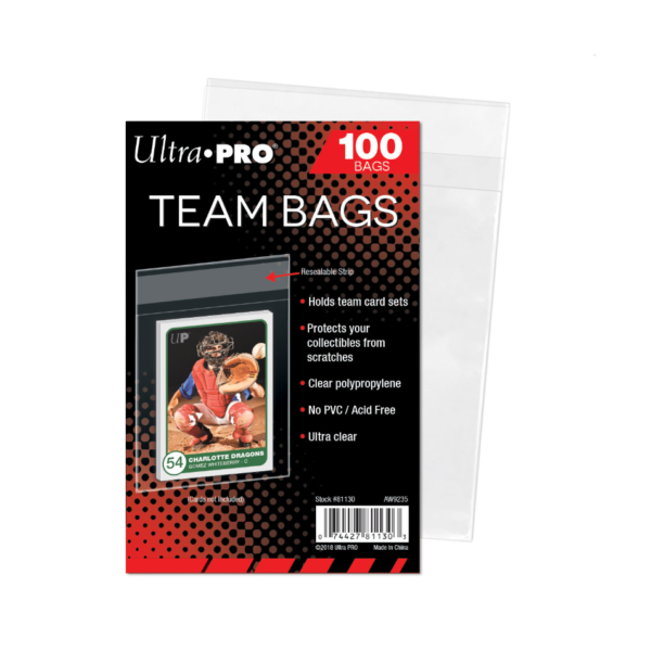 Ultra Pro Team Bags - Resealable Sleeves (100 Bags)