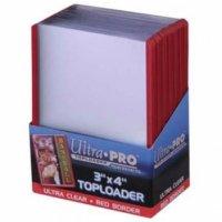 Ultra Pro Red Border Toploader 3x4 Zoll (25 Stück)