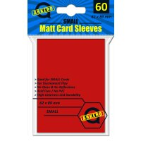 Arkero-G Matt Card Sleeves: Rot (60 Hüllen) mini