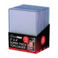 Ultra Pro Super Thick Toploader 3x4 Zoll 75PT (extrem dicke Schutzhüllen) - 25 Stück