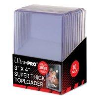 Ultra Pro Super Thick Toploader 3x4 Zoll 260PT (extrem dicke Schutzhüllen) - 10 Stück