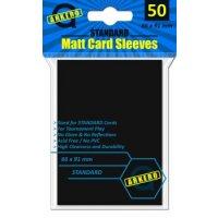 Arkero-G Matt Card Sleeves: Schwarz (50 Hüllen) Standardgröße