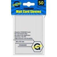 Arkero-G Matt Card Sleeves: Weiß (50 Hüllen) Standardgröße