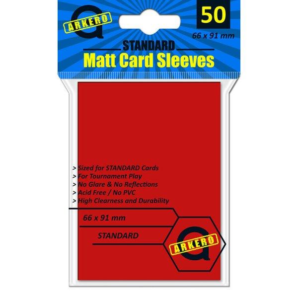 Arkero-G Matt Card Sleeves: Rot (50 Hüllen) Standardgröße