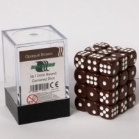 Blackfire Dice Cube D6 Dice Set (36 Würfel) - 12 mm Opaque Braun