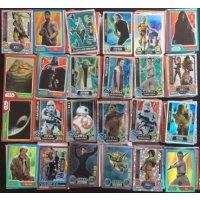 Star Wars Kartenpack 100 Karten Sammlung (verschiedene Serien) inkl. Force Meister/Rainbow, Mirror Foils & anderen Holos