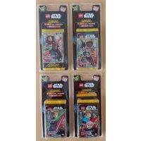 LEGO Star Wars Trading Card Collection - alle 4 verschiedenen Blister