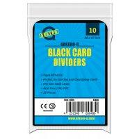 10 Arkero-G Kartentrenner Schwarz - Round Corners (10 Card Dividers)