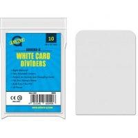 10 Arkero-G Kartentrenner Weiß *Round Corners* (10 Card Dividers für Aufbewahrungsboxen)