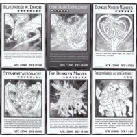 Alle 6 Duel Overload Oversized Karten (XXL Jumbo-Karten)