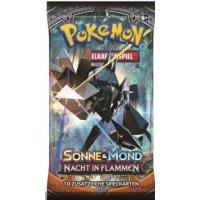 Pokemon Sonne und Mond: Nacht in Flammen Booster