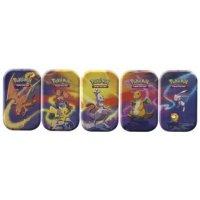 Alle 5 Pokemon Kanto-Stärke Mini Tins: Glurak, Pikachu/Vulpix, Mewtu, Dragoran, Enton/Mew