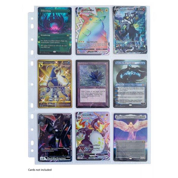 10 Arkero-G Premium 9-Pocket Pages (10 Seiten) - für Karten in Standardgröße (z.B. Pokemon, Magic)