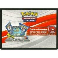 1x Pokemon Online-Code Karte Weg des Champs Zwollock Kollektion