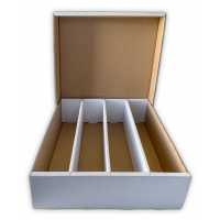 Arkero-G 4-Row Storage Box - Pappkarton für 4000 Karten 2-teilig (Aufbewahrungsbox für Einzelkarten)