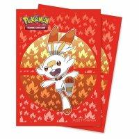Pokemon Sleeves Galar Starter Hopplo (65 Kartenhüllen)