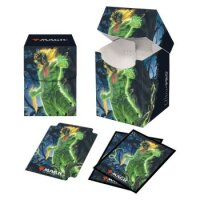 Combo Magic Deck Box + 100 Sleeves Zendikar Rising Obuun, Mul Daya Ancestor (100+ Deck Box) von Ultra Pro
